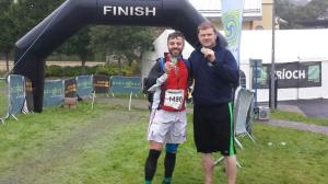 Sean and Shane at the GaelForce Finish Line