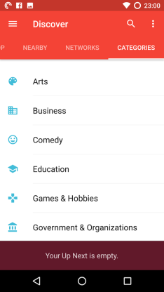 Pocket Cast Categories