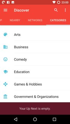 Pocket Cast Categories