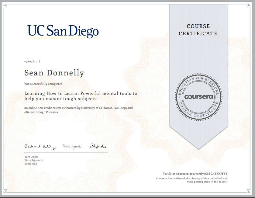 Coursera Learning